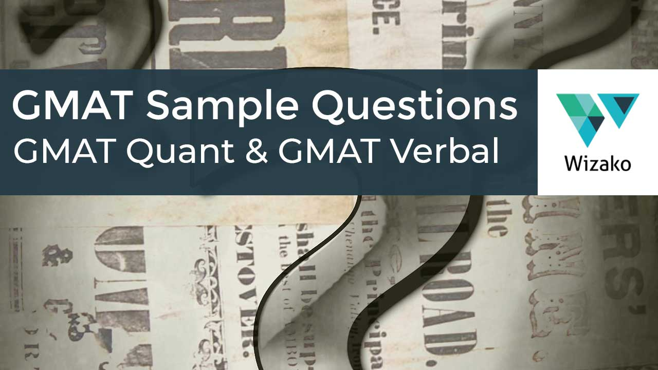 200+ Free GMAT Practice Questions   GMAT Quant, GMAT Verbal